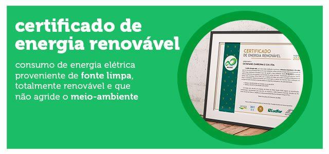 Caitá recebe Certificado de Energia Renovável